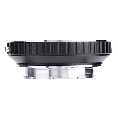 MD-LM Adaptador de Montaje para Minolta/Techart LM-EA7 Montura de Montaje, Adaptador de Montaje M para cámara Leica M, Plástico + Aleación Adaptador de Montaje de Lente de cámara, Negro