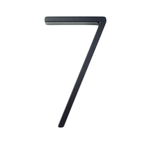 JINchao-placa de número de casa, Puerta Dirección Número de dígitos de aleación de zinc, Negro puerta de la casa sesión Dirección # 7, 127 mm de Big Modern House Número , Accesorios de decoración