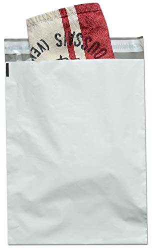 """1000 Pcs 6"""" x 9"""" Poly Mailers 2.5 Mil Envelopes Shipping Bags with Self Sealing Strip, White Poly Mailers"""