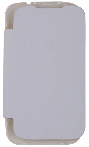 iCandy™ Synthetic Leather Flip Cover for Lava Iris 356 - White