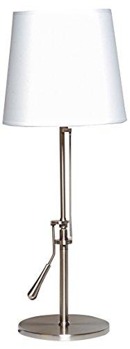 Unilux Inclinea Lampe de bureau LED 12W 810 Lumens Inclinable muni de son Abat-jour en tissu blanc 67 x 25 x 19 cm Métal brossé