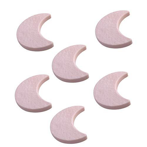 6 Un. TIRADOR Pomo Mueble Infantil Luna plástico rosa habitación BEBÉ 70X55X20mm