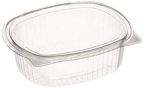 ACESA - Envase para Comida con Tapa bisagra Oval -OPS - Contenedores Desechables con Tapa (500cc (50ud))