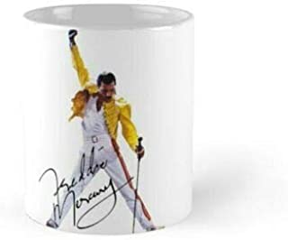 The Red Circle - Freddie Mercury 11 Oz 15 Oz mugs, Bohemian Rhapsody Queen Coffee Mug 11oz