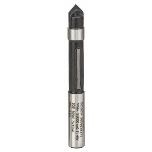 Bosch Professional Zubehör 2 608 628 371 Kopierfräser 8 mm, D1 8 mm, L 19 mm, G 64 mm
