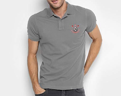 Camisa do Corinthians 100% Bordada (Cinza, M)