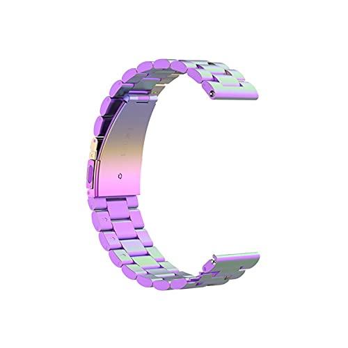 Jun store - Correa de acero inoxidable para reloj Xiaomi MI (22 mm, repuesto de metal de 22 mm), compatible con correa Realme Watch S (color de la correa: siete colores, ancho de la correa: 22 mm)