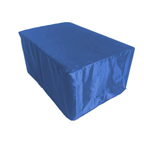 IJNBHU Funda Mesa Jardin, Copertura Impermeable para Mesas Rectangular,Cubierta de Exterior Funda Protectora Muebles Mesas Sillas Sofás Exterior Oxford, Anti-UV, Azul210*110 * 70cm