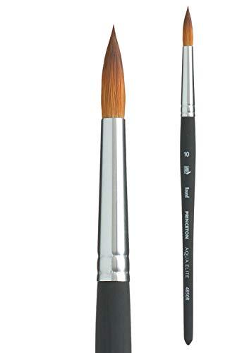 Princeton Aqua Elite, Series 4850, Synthetic Kolinsky Watercolor Paint Brush,Round, Size 10