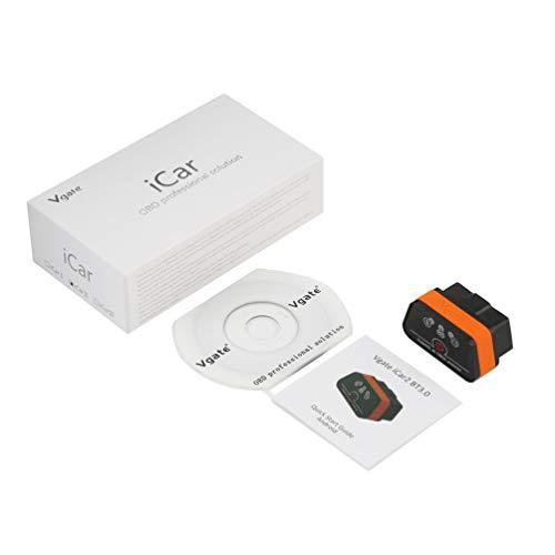 HETUI Lector de código Vgate iCar2 Disponible Auto OBDII Vgate iCar 2 (Negro y Naranja)