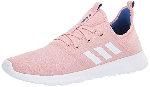 adidas Women's Cloudfoam Pure Running Shoe, Pink Spirit/Chalk White, 9 Medium US