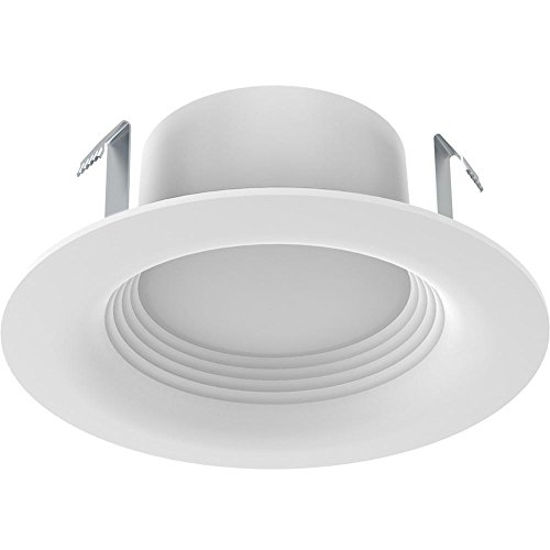 EcoSmart 65-Watt Equivalent Softwhite 4 in. White Integrated LED Recessed Trim (3-Pack)
