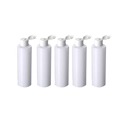 Minkissy 5pcs Plastic Squeeze Bottles Portable Travel Comestic Bottles Set Refillable Empty Storage Containers for Shampoo Lotion(200ml)