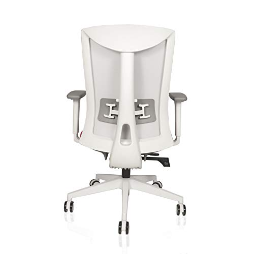 INNOWIN® Henry Mid Back Executive Breathable Mesh Office Chair with Adjustable Arms - White