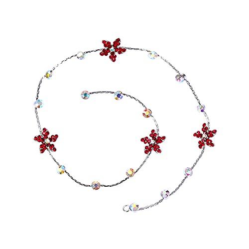 tggh Cadena de extensión de pelo para niña nueva decoración del cabello, extensión de trenza de diamantes de imitación, joyería con purpurina, cadena de pelo para boda (color: estilo 6)