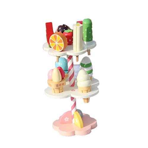 Babyspeelgoed Simulatie IJs Houten speelgoed Set Fantasiespel Keuken Eten Babyspeelgoed Verjaardag Kerstcadeau