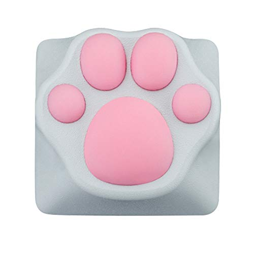 Custom Gaming Keycaps Machinery Keyboard keycaps Cat paw Shape ABS Base for ESC Key, Cat Claw for Cute Keyboard (White/Pink)