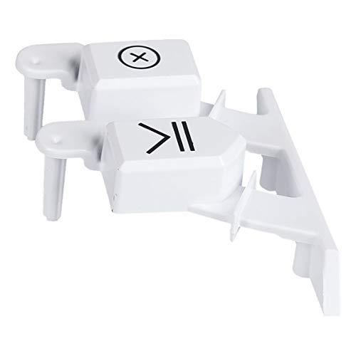 Bauknecht 481010731859 ORIGINAL Tastenkappe EinAusTaste Startschalterkappe Tastenabdeckung Einschalterkappe Hauptschalterkappe rechts zweifach Waschmaschine auch passend für Ariston Hotpoint