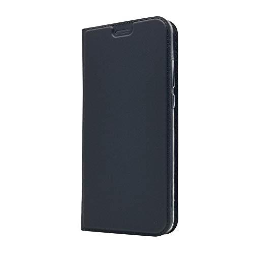 LAGUI Funda Adecuado para Xiaomi Mi 8 Lite, Ultrafina Carcasa Minimalista Tipo Libro. Azul