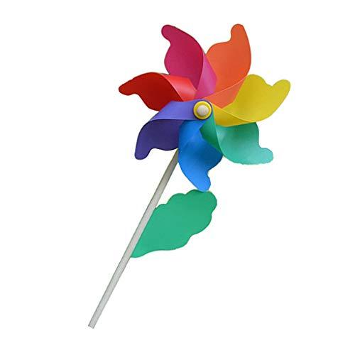 F Fityle DIY Windrad Windmühle Windspiel für Hochzeit Geburtstag Taufe Partys usw. - 56cm Höhe