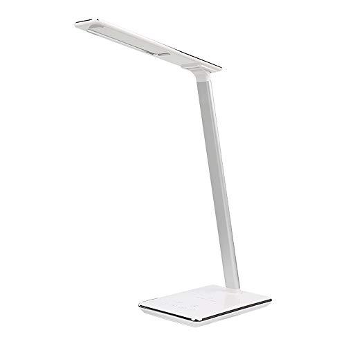 Lámpara de mesa LED, lámpara de escritorio, clip táctil, lámpara de estudio, flexo, cuello de cisne, escritorio, USB, recargable, 4 colores