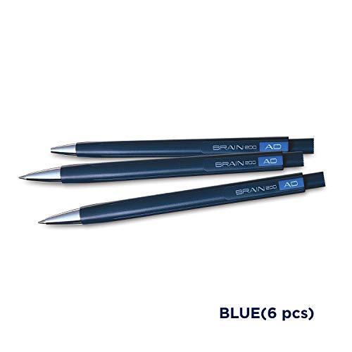 UNI-BALL Brain Ball Pen Set - Pack of 6 (Blue)