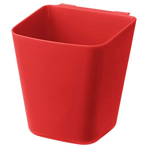 IKEA Sunnersta - Barra de pared para cocina, baño, set UK (1, 1 contenedor rojo)