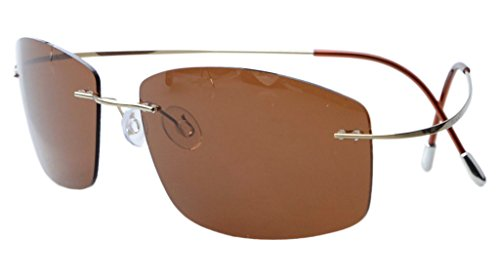 Eyekepper titanio sin montura marco gafas de sol polarizadas