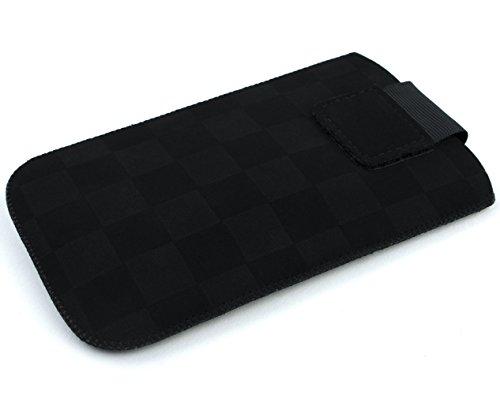 Etui für Acer Liquid E1, E2 Duo, E3 Plus, M330, Z320, Z330, schwarz mit Ausziehhilfe, samtweichen Innenfutter von BA5I5