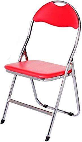 LIUBINGER Drehbarer Bürostuhl Folding Computer Stuhl Sitzlehne Office Home Rückenlehne Stuhl Bürostuhl Ausbildung Chair Schülerstuhl (Color : Red)