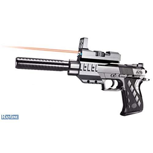 Rayline Softair Pistole 2122-B4 Plastik Schwarz Energie <0.5 Joule ab 14 Jahre