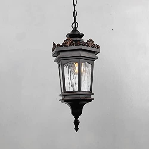 Lámpara de araña americana, impermeable al aire libre y lámparas de patio a prueba de herrumbre, pasillo de pasillo del pasillo vintage de la vendimia iluminación de la iluminación al aire libre de la