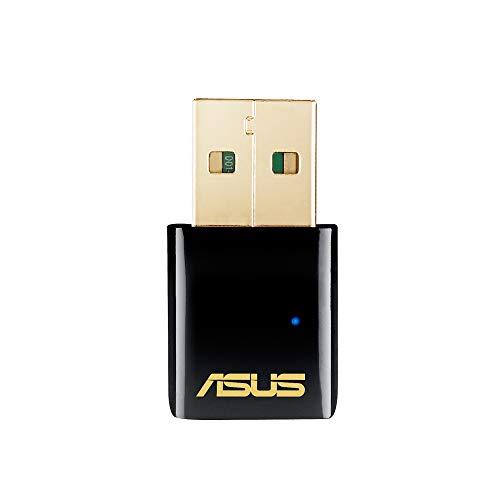 Asus USB-AC51 AC600 Dual-Band Wi-Fi USB Stick (802.11 a/b/g/n/ac, USB 2.0, Windows Mac & Linux kompatibel, Antennen)