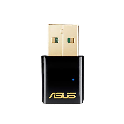 Asus USB-AC51 AC600 Dual-Band Wi-Fi USB Stick (802.11 a/b/g/n/ac, USB 2.0, Windows Mac & Linux kompatibel, Antennen)