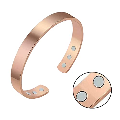 Copper Magnetic Bracelet - for Arthritis, Migraine & Pain Relief, Magnetic Field Therapy Bracelet