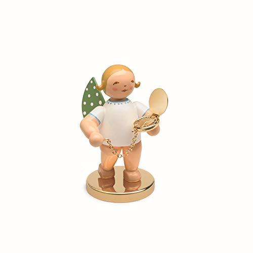 Wendt & Kühn Begleiter mit Metallsockel, Engel mit Taschenuhr, in Spanschachtel No. 12 Engelfarbe Blond