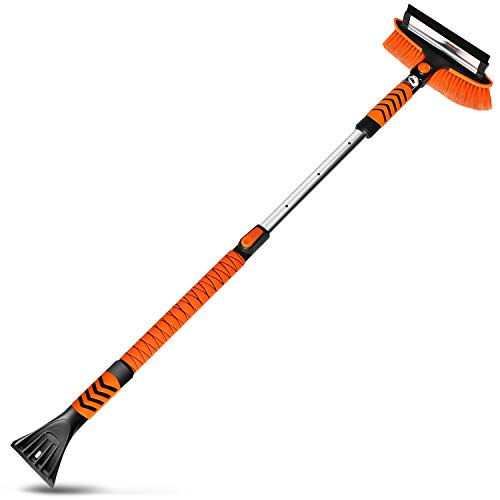 MATCC Car Snow Brush Removal 51'' Extendable Snow Brush with Squeegee and Ice Scraper Detachable...