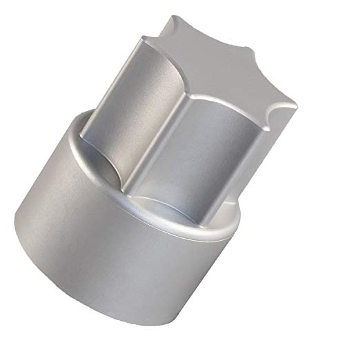 TeigTwister® | Thermomix-Teiglöser für den TM6 / TM5 / TM31 | Messerdrehhilfe aus Aluminium | löst Teige aus dem Mixtopfmesser im Handumdrehen | Made in Germany