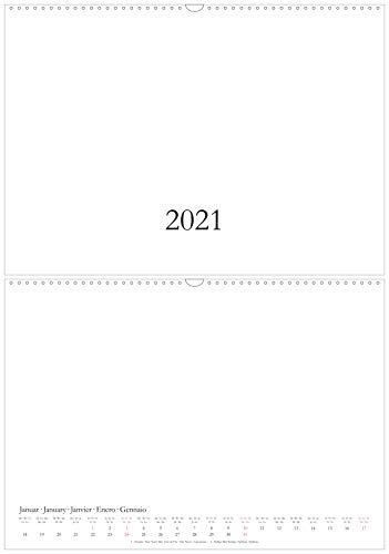 Bastelkalender & Fotokalender 2021 - DIN A3 / A2 - CO2 neutral in Deutschland gedruckt - Querformat/quer - weiß - Wandkalender - Kreativkalender DIY Do-it-yourself - XL/XXL (A3)