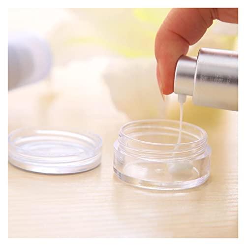 Caja de almacenaje 50 unid / lote 5g Muestra Clear Cream Tarrar Botellas Cosméticas Contenedores Pote transparente para Artes de Uñas Pequeño Lata Clear Lata Para Bálsamo Resistente al polvo y práctic