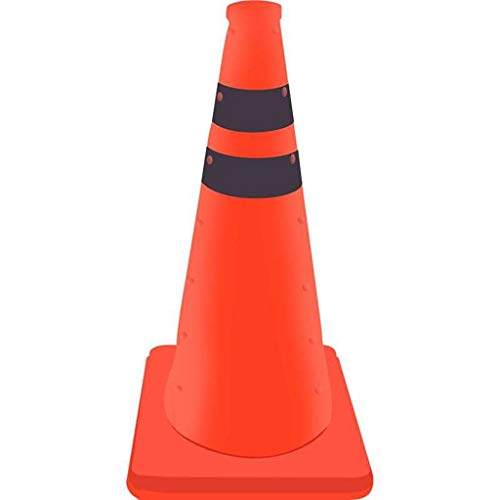 straight fire 45/60cm Reflective Traffic Cone Parking Lock Folding Collapsible Orange Road Safety Cone Traffic Pop Up Multi Purpose (Size : 45cm)