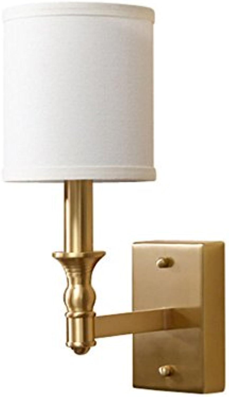 MCRUI Kupfer Wandleuchte Einfachen Wohnzimmer Balkon Gehweg Schlafzimmer Nachttischlampe Wandleuchte Einzigen Kopf Reines Kupfer E14, 230V Lampe