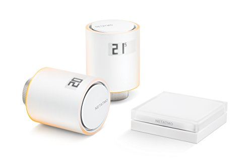 Netatmo Starter Pack Válvulas Wifi Inteligentes para Radiador, Paquete para calefacción colectiva, NVP-ES