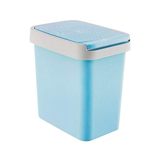 POUYTT Trash Can, Creative Trash Can Home Living Room Bedroom Press-type Kitchen Bathroom Sorting Trash Can With Covered Paper Basket (Color : A)