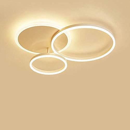 LED Deckenleuchte, 54W 5000lm Aluminium DeckenLampe, 3000K Warmes Licht, Moderne LED Deckenleuchten for Wohnzimmer, Schlafzimmer, Kinderzimmer, Produkt Maß L65 * W50 * H8cm [Energieklasse A ++]