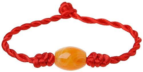 RTUTUR Módromo Hecho a Mano Amuleto Afortunado Rojo Trenzado brazaletes joyería de Moda