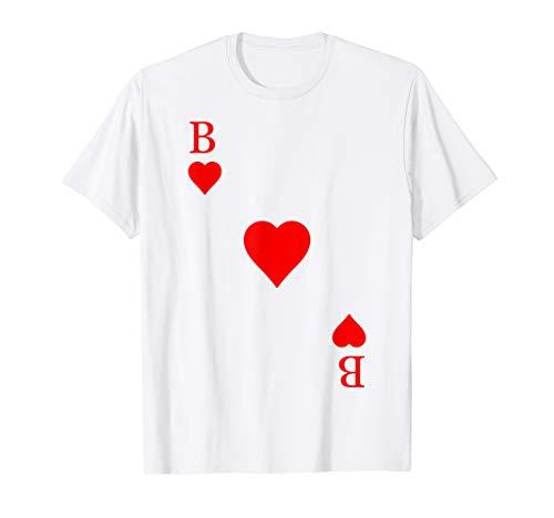 Spielkarte Herz Bube Herzbube Fasching Karneval Kostüm Paare T-Shirt