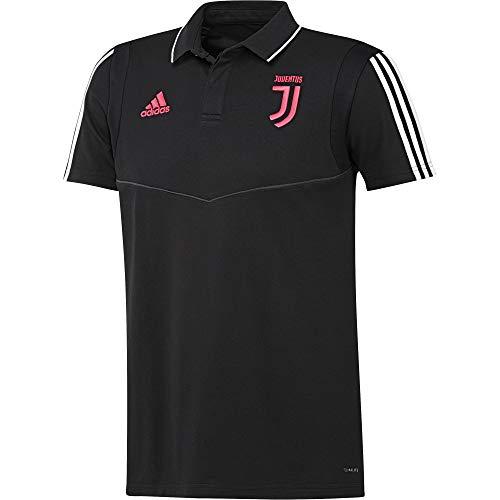 adidas Juventus Cotton, Polo A Maniche Corte Uomo, Nero/Dkgrey, M