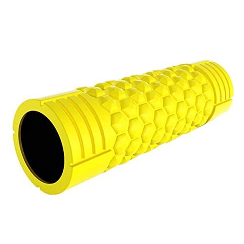 WDX- Muscle Fascia Rolling Leg Stick Yoga Fitness Stovepipe Stick Roller Gear Pierna Relajación Masajeador Masaje (Color: Amarillo) BJY969 (Color : Yellow)