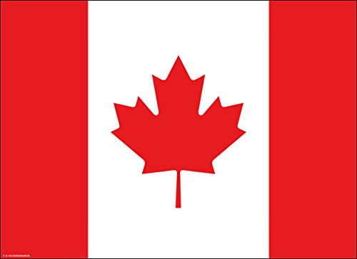 Tischsets | Platzsets - Kanada Flagge - 10 Stück - hochwertige Tischdekoration 44 x 32 cm für kanadische Feierlichkeiten, Mottopartys und Fanabende